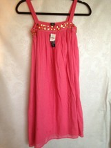 Gap Kids Girl Pink Coral Dress Jewel Top Sun Dress Size 12 X-Large  - $13.61