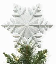 Wondershop 25.4cm Schneeflocke Projektion Einfach Clip Tree Topper Glänzend Neu image 2