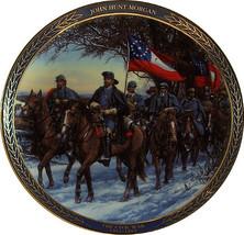 JOHN HUNT MORGAN  -The Gallant Men of the Civil War  #5  Plate- Bradford... - $18.95