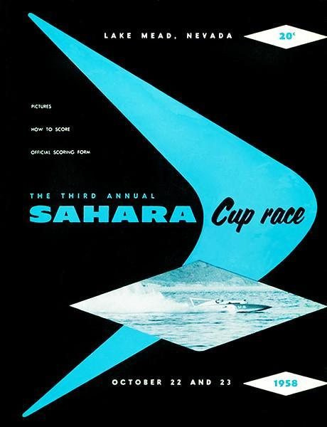 Primary image for 1958 Sahara Cup Boat Race - Lake Mead Nevada - Program Cover Poster