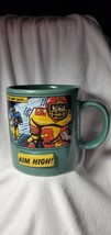 "Russ Berrie Oversized Football Coffee Mug ""Aim High! Never Look Back"" - $11.88"