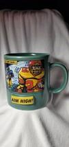 "Russ Berrie Oversized Football Coffee Mug ""Aim High! Never Look Back"" - $11.88"