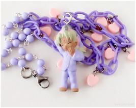 Love Hina, Kaolla Su Charm Necklace, Pink and Purple - Fairy Kei, Anime ... - $25.00