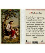 Act of Contrition Holy Card - EB186 - My God I am Heartily Sorry - Top S... - $2.23