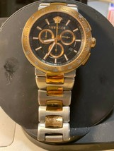 Versace Mystique Steel Chronograph Black Dial Quartz Mens Watch VFG100014 - $559.35