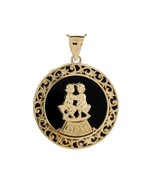 10K or 14K Yellow Gold & Onyx Gemini Zodiac Pendant - $599.99+