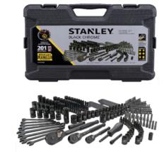 Mechanics Tool Set 201 Pcs Mixed Tool Black Chrome Easy Drive Case Quick... - $116.72