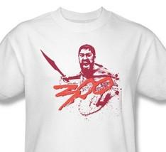 300 T-shirt Free Shipping King Leonidas Sparta gladiator movie cotton tee WBM101 image 1