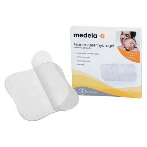 Primary image for 4-Pk Medela Tender Care Hydrogel Pads Cool Soothing Gel Advanced Nipple Therapy