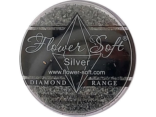 Flower Soft-Diamond Range Flocking-Silver 30ml Jar