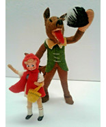 BAPS Dolls Little Red Riding Hood & Big Bad Wolf Vintage Germany Bartel ... - $225.00