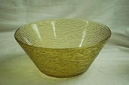 "Old Vintage Soreno Gold Anchor Hocking 11"" Round Bowl 4 Qt. Pressed Bark... - $29.69"