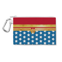 Wonder Woman Super Hero Inspired Canvas Zip Pouch - $15.99+