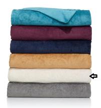 Highgate Manor Velvety Plush Scroll Blanket, Size Full/Queen, Ivory - $39.59