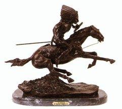 Warrior Statue American Bronze Handmade Sculpture By Frederic Remington Medium S - $338.10