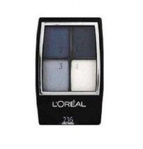 3 x L'Oreal Wear Infinite Quad Pallette Eyeshadow 236 Cobalt Smokes Blue - $15.99