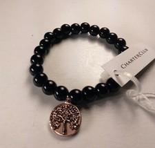 Charter Club Black Beaded Tree of Life Stretch Bracelet - New - $12.87