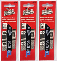 "Vermont American 30106 4"" x 14 TPI HSS Reciprocating Saw Blade (3 Packs) - $4.70"