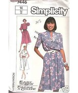 Simplicity 7446 Misses' Pullover Dress Size 14 Pattern Easy to Sew - $2.00