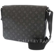 LOUIS VUITTON District MM Monogram Eclipse M44001 Shoulder Bag Authentic... - $1,542.27