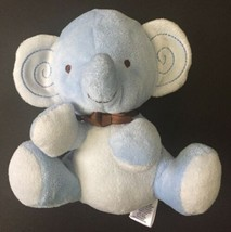 Fisher Price Small Blue Elephant Lovey Plush Stuffed Animal Infant Toy - $14.84