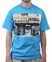 Famous Stars & Straps Mens Bodega Corner Grocery Store Turquoise T-Shirt
