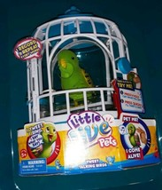 Little Live Pets Green Bird Friendly Frankie with Birdcage New Rare  - $59.00