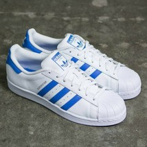 Adidas Originals Superstar Trainers Men's Leather Shoes - White / Blue -... - $93.28