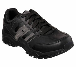 Skechers Black Extra Wide Fit shoes Men Memory Foam Sporty Casual Comfor... - $49.79