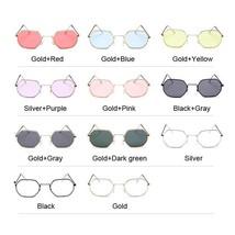 Polygon Frame Small Fashion Sunglasses Women Men Brand Designer Vintage ... - $9.08