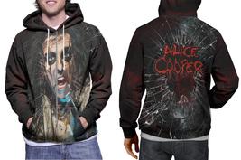 hoodie men's zipper Alice cooper Rock Legend - $48.99+
