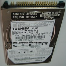 "MK8032GAX HDD2191 Toshiba 80GB 2.5"" IDE Drive Free USA Ship Our Drives Work - $12.69"