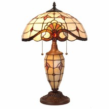 Cloud Mountain Tiffany Style Table Lamp Victorian Desk Stained Glass Hom... - $119.99