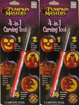 Lot of 2 , Pumpkin Masters 4-in-1 Carving Tool ~Halloween American's Fav... - £4.65 GBP