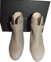 Rag & Bone HARROW Stone Buckle Boots Ankle Booties Taupe Shoes 38.5 - 8 image 3