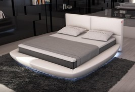 Modern Modrest Sferico - Modern Eco-Leather Queen Bed with LED Lights - $1,603.00