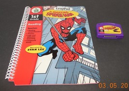 Leap Frog LeapPad The Amazing Spider man 1st Grade Book Cartridge Stan Lee - $14.00
