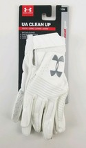 Under Armour Youth UA Clean Up Baseball Batting Gloves White Small New - $19.22