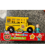 MUSICAL YELLOW SCHOOL BUS CoComelon JJ Figure Brand New In hand - $34.60