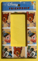 Art of Disney Friendship Stamps Light Switch Outlet Wall Cover Plate Home decor image 3