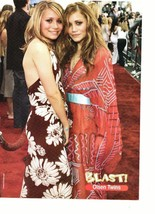 Mary Kate Olsen Ashley Olsen teen magazine pinup clipping red carpet Full House