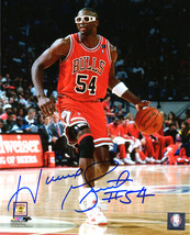 HORACE GRANT Signed Chicago Bulls Dribbling Action 8x10 Photo - SCHWARTZ - £67.32 GBP