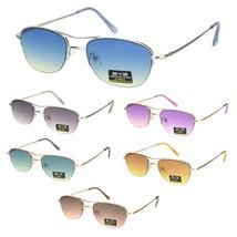 Womens Boyfriend Style Narrow Rectangular Half Rim Pilots Sunglasses - $12.95