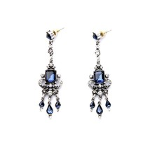 The Cats Pajama Alayah Victorian Blue Drop Earrings - $44.00