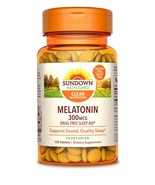 Sundown Naturals Melatonin 300 mcg Tablets 120 Count  Sleep Support - Do... - $19.99