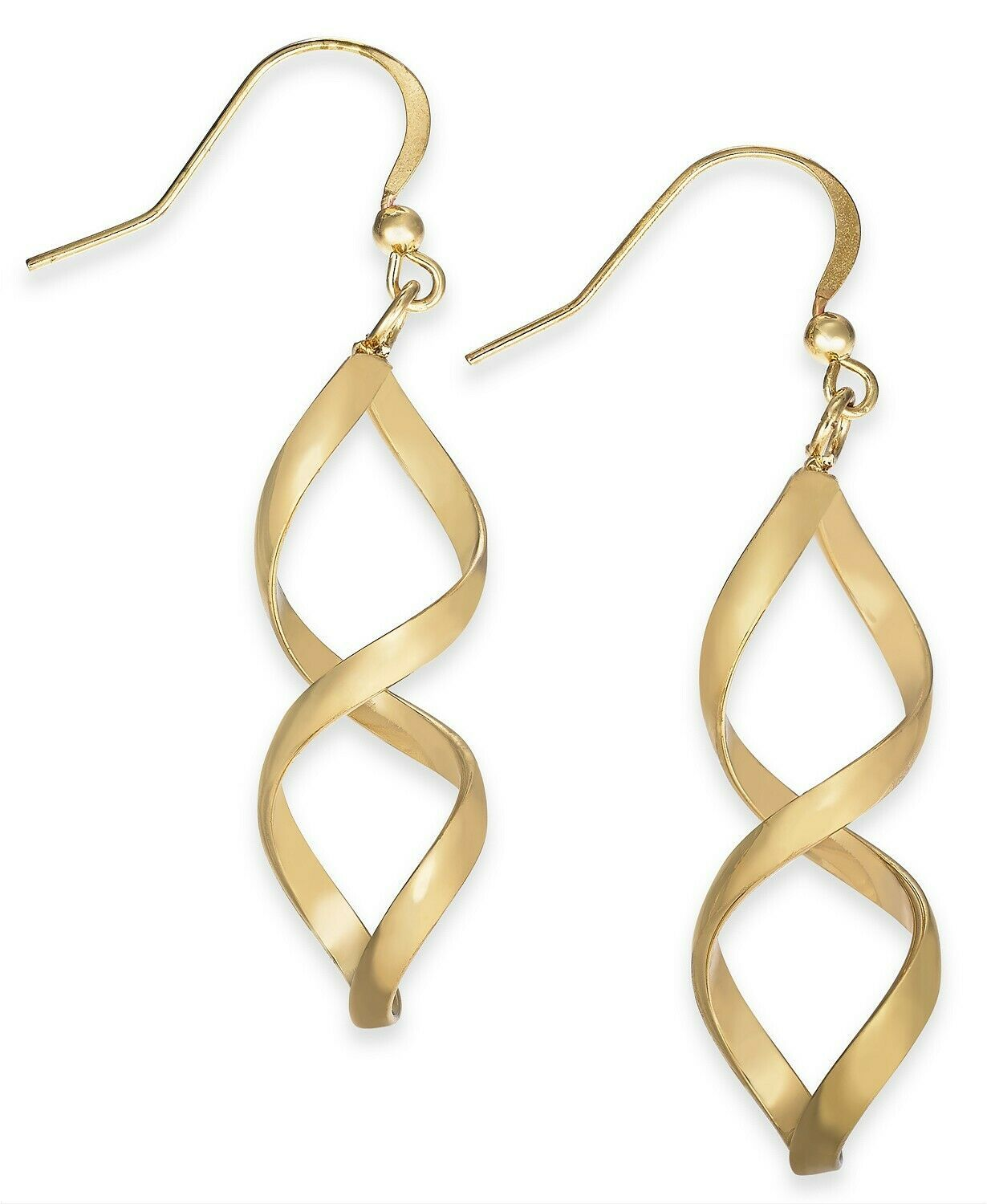 Primary image for Charter Club Rose Gold-Tone Twist Drop Earrings Gold 1.75""