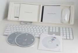 Sealed Apple Keyboard A1243 Mouse A1152 Mac OS X CD iLife Disc New in Bo... - $171.50