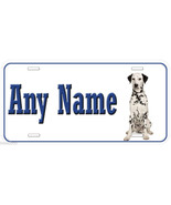 Dalmatian Dog Any Name Personalized Car Auto Tag License Plate - $14.80
