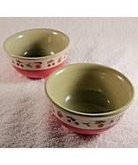 Set of 2 Pfaltzgraff Pistoulet Dessert Berry Cherry Fruit Bowls Two Jana... - $12.82