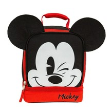 Licensed Disney 3D Mickey Mouse Ears Lunch Bag  Dual Insulated Lunch Kit... - $16.15 CAD